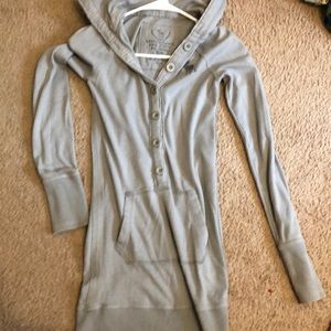 Abercrombie & Fitch long hoodie tunic sweatshirt S